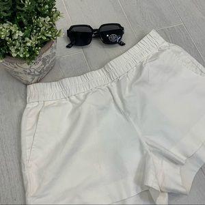 J CREW Off White Linen Blend Shorts SZ 6